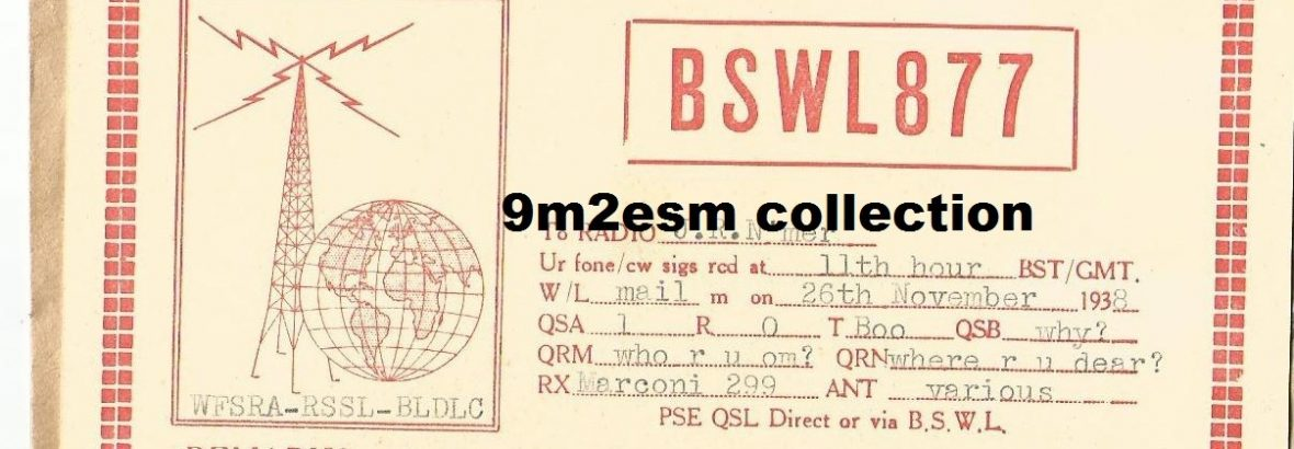 BSWL877 : Among The Earliest SWL in Federated Malay State